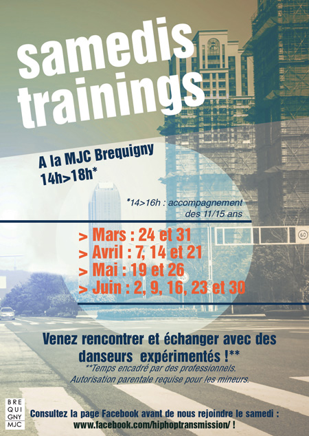 Samedis Trainings/ Hip-hop Transmission à la MJC Bréquigny