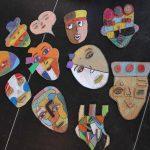 2018-2019 [RETOUR SUR] «Création de Masques en carton, à la manière de Kimy Cantrell, Sandra Silberzweiz et Pablo Picasso»